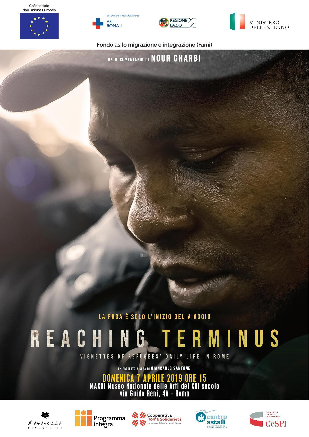 "locandina di ""Reaching Terminus: Vignettes of Refugee's Daily Life in Rome"""